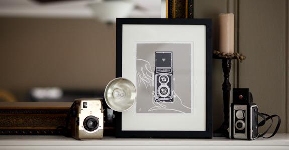 Silkscreen Vintage Camera Prints