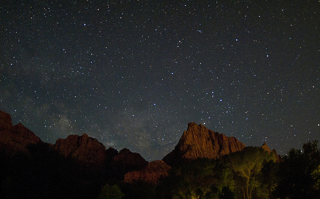 under a blanket of stars, not even a speck in this universe, I said goodnight to Zion