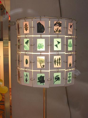 Slide lamp- green leaves