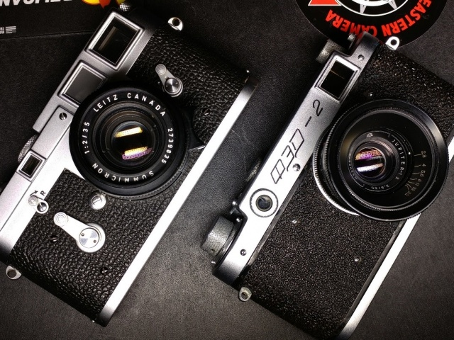 Legend vs. Bootleg: Leica M3  vs.  FED 2